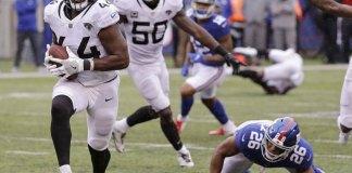 Jack Interception Return Leads Jags over Giants