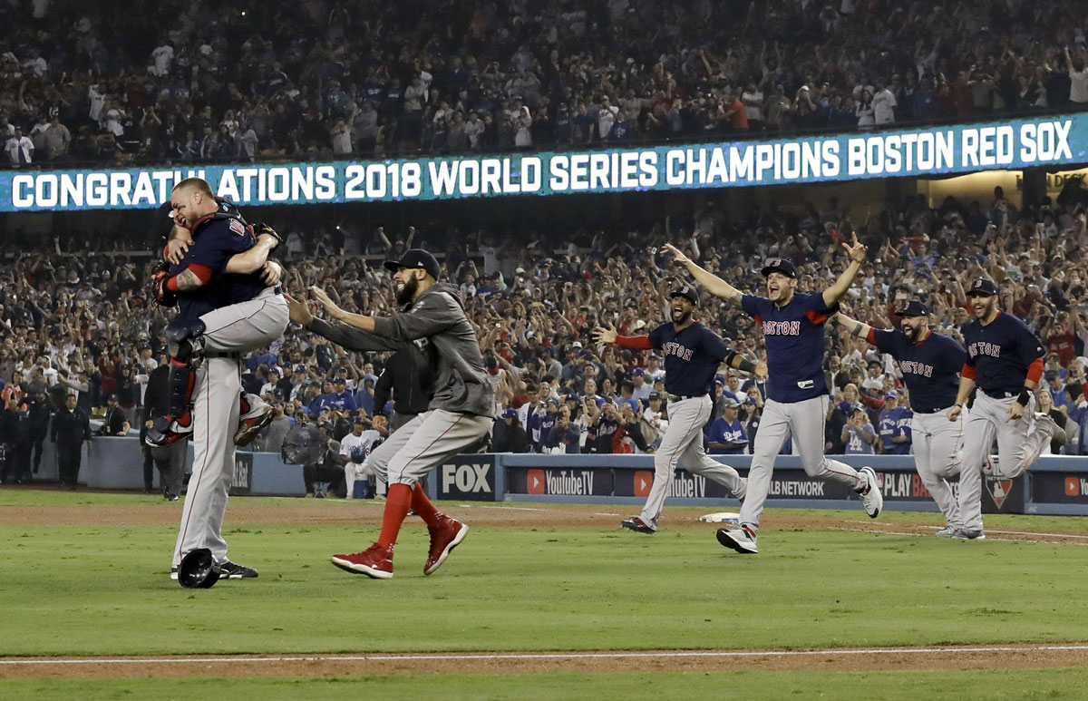 Red Sox Beat Dodgers 51 in Game 5 to Win World Series Title