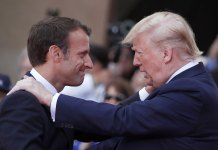 Much to Disagree on as Trump, Macron Meet on D-Day