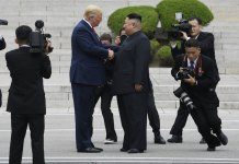 Wide Grins and Historic Handshake for Trump, Kim at DMZ