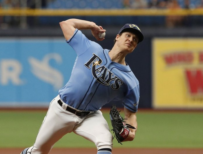 Glasnow Strikes out 5 in Return, Rays Beat Sinking Blue Jays