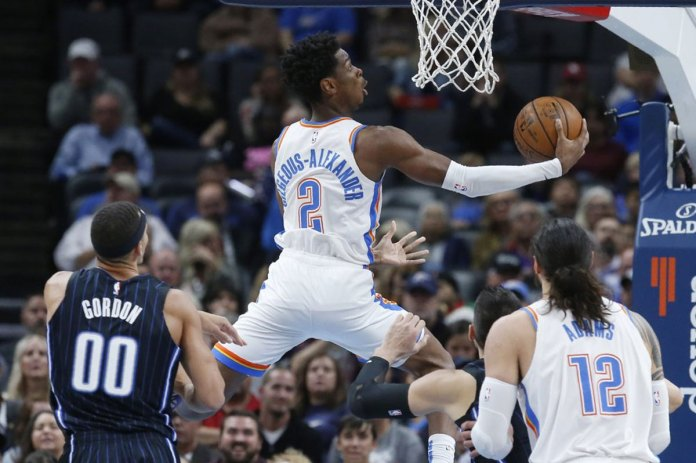 Gilgeous-Alexander Leads Thunder Past Magic 102-94
