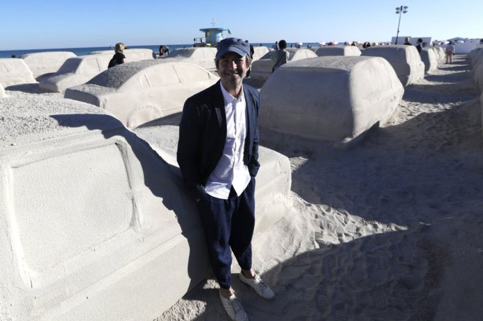 Miami Beach Unveils Traffic Sculpture Made of Sand