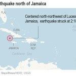 Magnitude 7.7 earthquake hits between Cuba and Jamaica