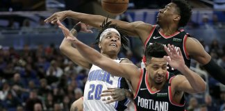 McCollum, Trent Help Blazers Rout Magic 130-107