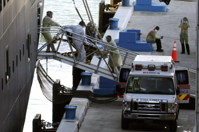 2 Cruise Ships with Coronavirus Patients aboard Dock at Port Everglades