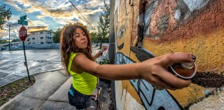 Influential Miami artist Didi Rok rolls with femme street art