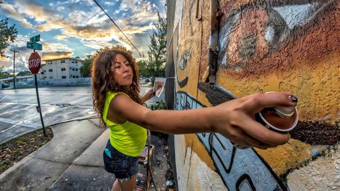 Influential Miami artist Didi Rok rolls with femme street art