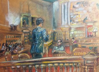 Shirley Henderson's Courtroom Illustrations