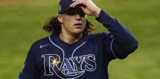 Glasnow wilts, can't stay with Kershaw as Rays drop Game 1