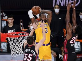 Lakers top Heat 102-96, take 3-1 lead in NBA Finals