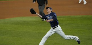 Rays walk off for 8-7 win over Dodgers to even World Series