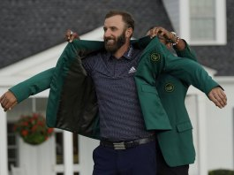 Green jacket fits as well in November as in April