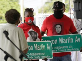Officials name new road in Florida after Trayvon Martin