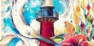 commemorative poster for the 36th edition of the ArtiGras Fine Arts Festival
