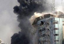 Israeli strike destroys Gaza building with AP, other media