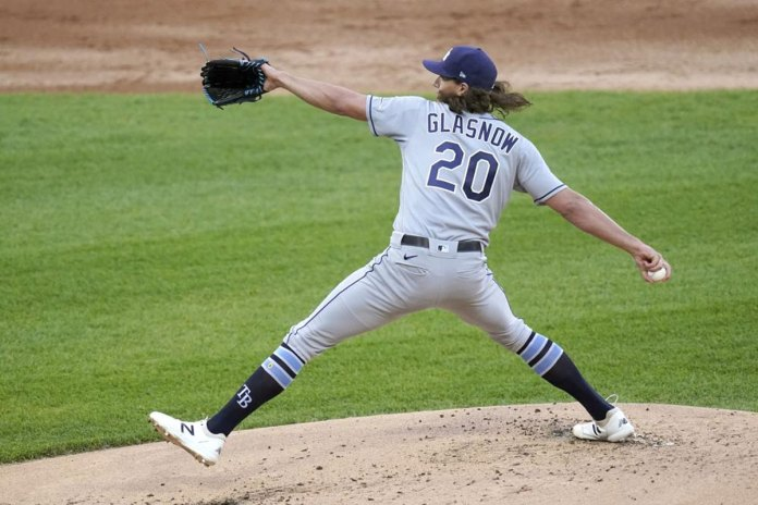 Rays ace Glasnow has elbow tear, no surgery for now