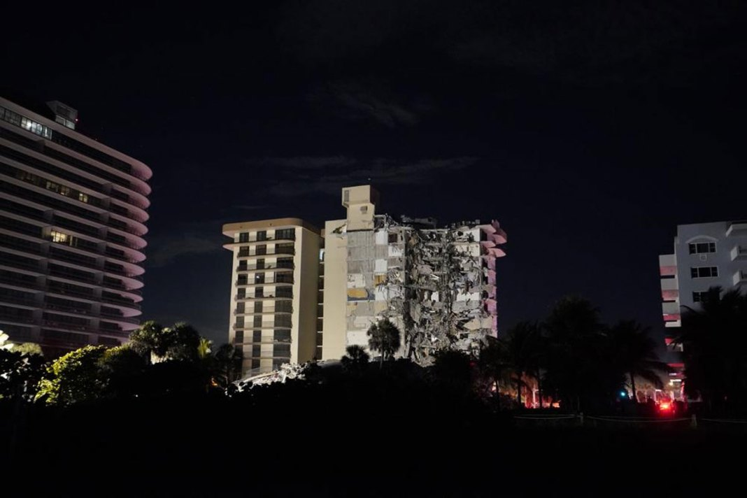 Wing of Miami-area condo collapses; at least 1 person dead
