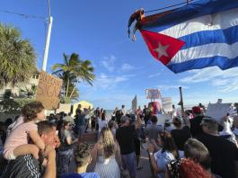 2 men held on Florida's new anti-riot law in Cuba protest