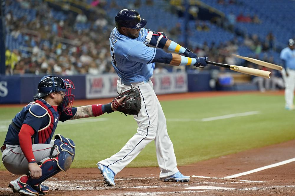 Rays hit 3 HRs, beat the Red Sox 7-3 to tighten AL East race