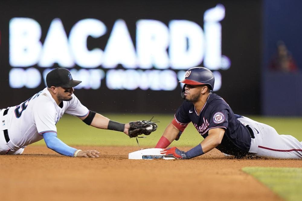 Barrera's three hits help Nationals extend Marlins' skid