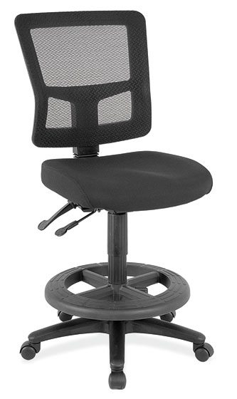 chair mesh stool swivel office upholstered buy new chairs task stools orlando 8602skblk overall 19 1 4 w x 22 3 d 35 2 40 h black fabric armless frame