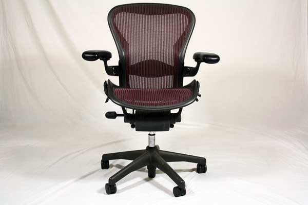 herman miller used office chairs cheap comfortable quality burgundy task in orlando aeron mesh chair