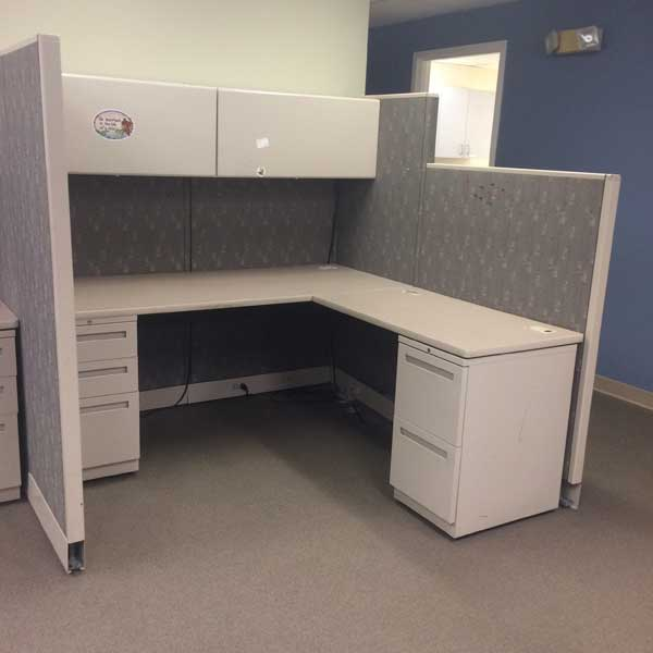 PreOwned Allsteel Cubicle Orlando Used Biege Cubicle