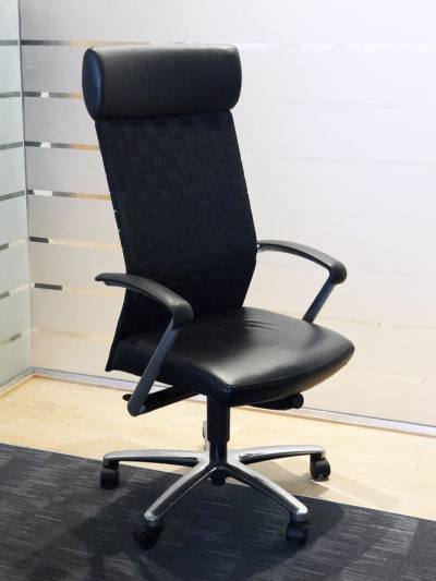 ergonomic chair used blue and white striped office chairs orlando new task florida find high back ergonomics at liquidation