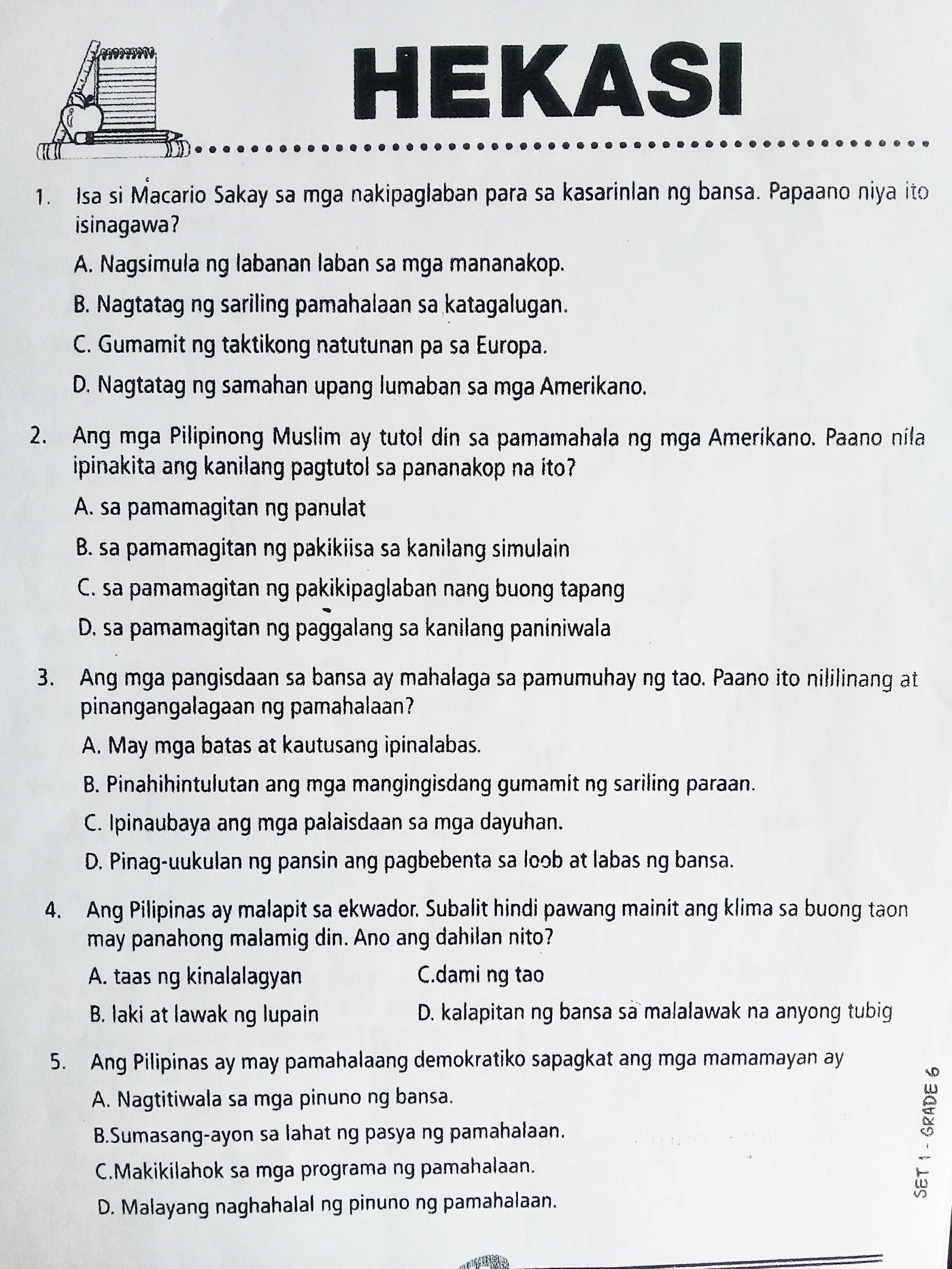 hight resolution of Worksheet For Grade 1 Araling Panlipunan   Printable Worksheets and  Activities for Teachers
