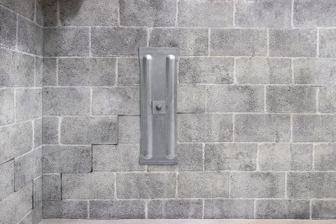 Installed wall anchor