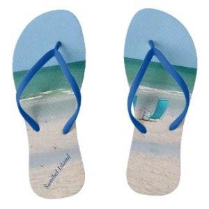 Sanibel Island Custom Flip Flops