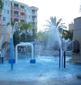 Fun Water Features at the Plaza del Sol Pool