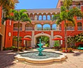 Colorful Courtyard at Marriott's Orlando Timeshare Resort