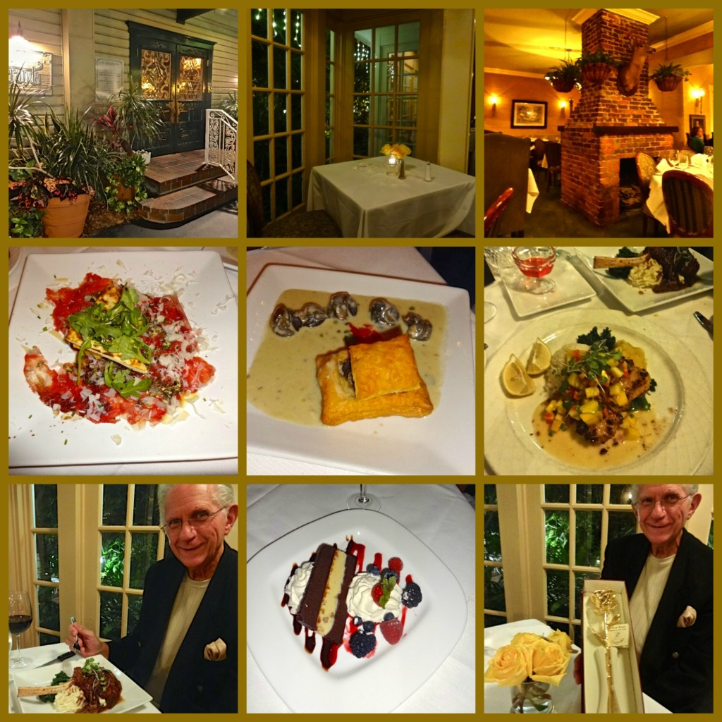 Anniversary Dinner at The Upscale Veranda Restaurant in Ft Myers, Florida