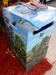 Artistic Trash Containers in Lake Placid