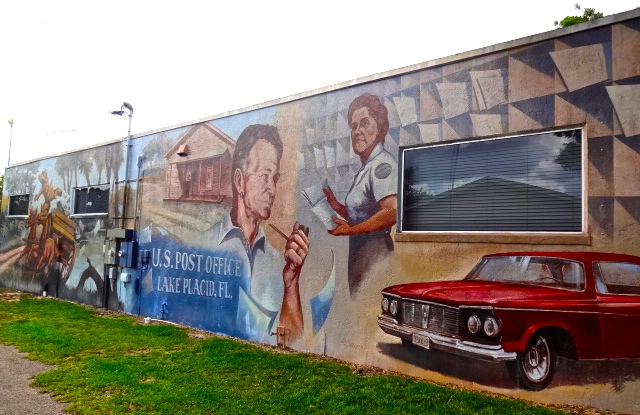 Lake Placid Mural: The Old Post Office