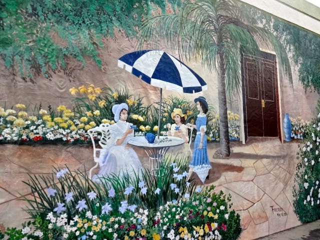 Mural: Tea At Southwinds - Lake Placid's first mural