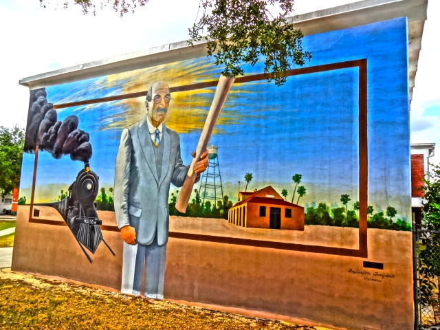 A Mural of Dr. Melvin Dewey in Lake Placid Florida