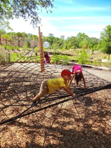 Spider Climb at Hammock Hollow Children's Garden