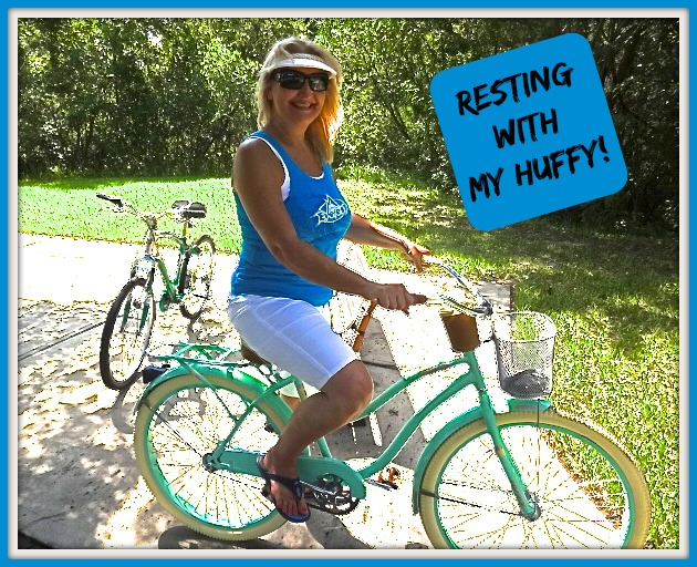 Resting with My Huffy Deluxe Cruiser!