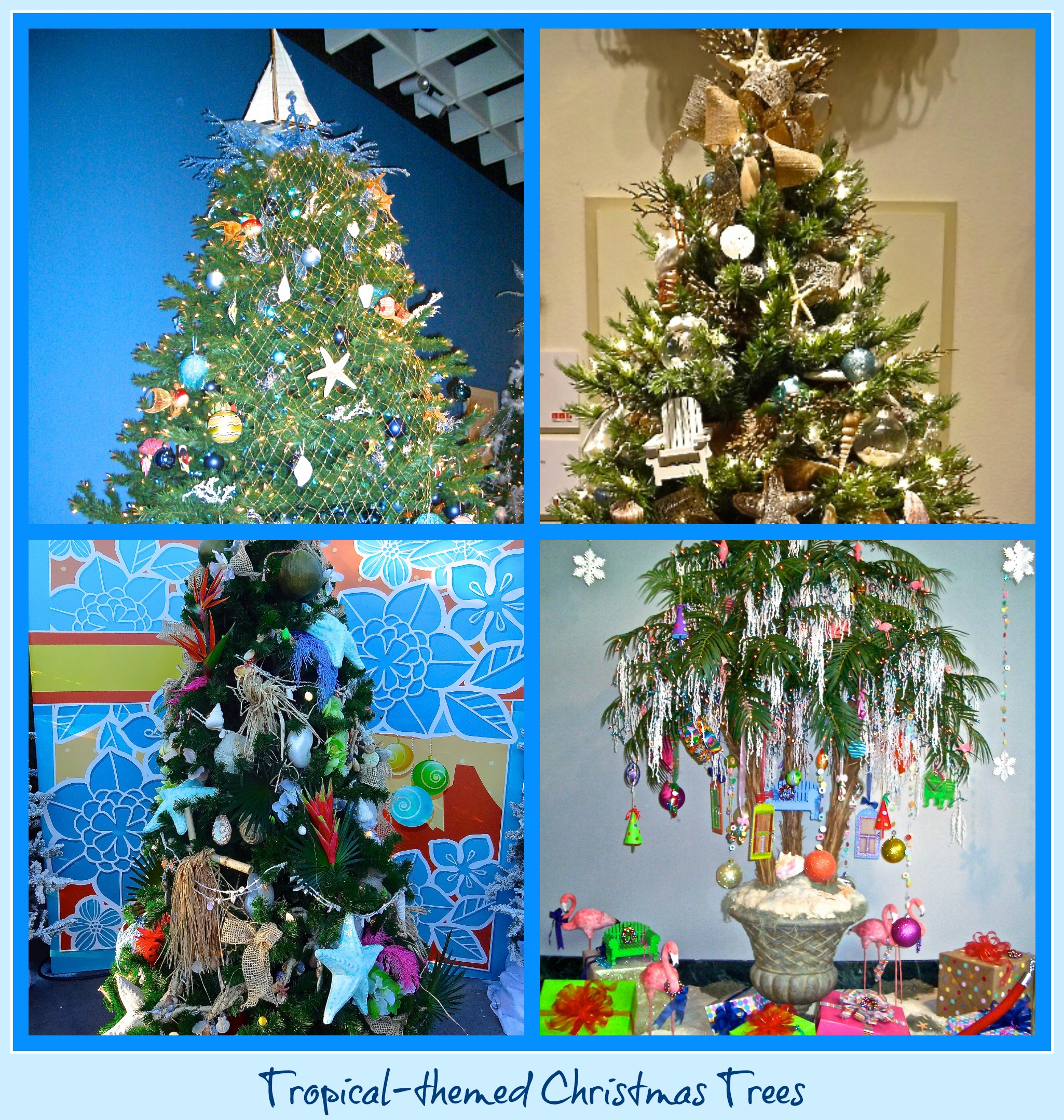 Tropical-themed Christmas Trees | FunAndFork