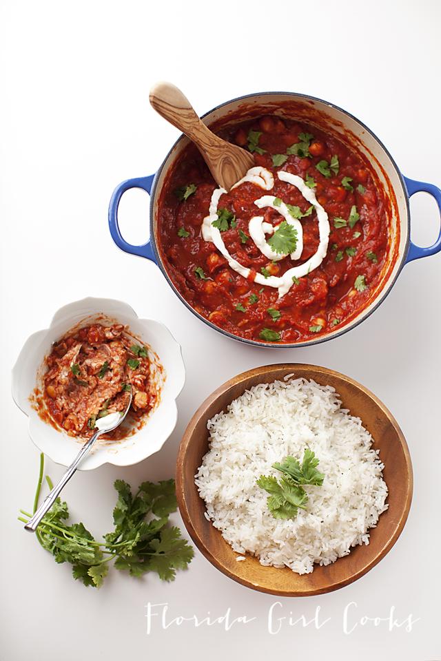 chickpea tikka masala, indian, vegetarian
