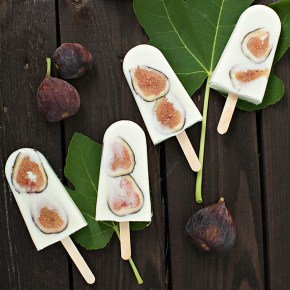 yogurt fig popsicles, figs, ice cream, summer
