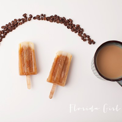 latte popsicles, coffee, milk, popsicles, dessert