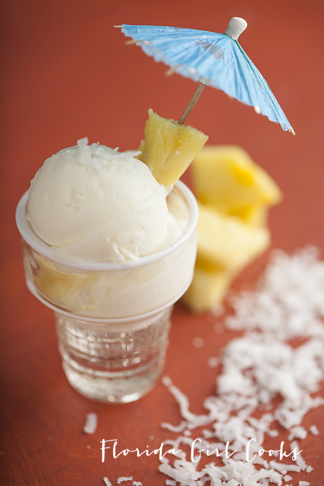 piña colada ice cream, ice cream, frozen treat, summer treat, summer, boozy ice cream