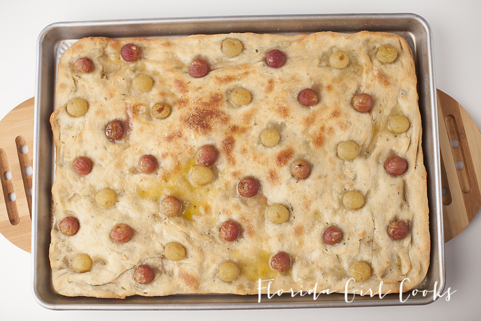 grape & blood orange infused olive oil focaccia, italian, baked good, baking, late summer, early fall, appetizer, dessert, breakfast