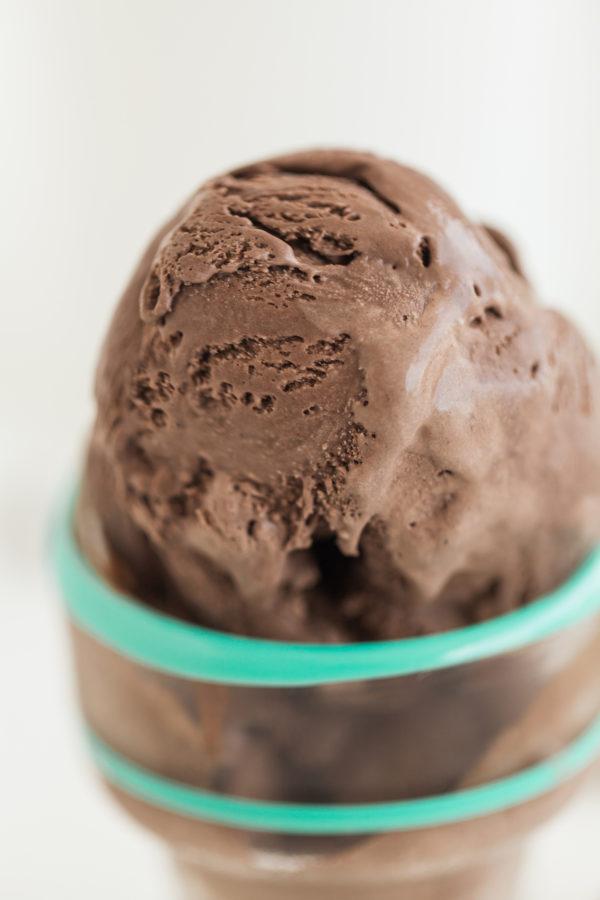 rich chocolate ice cream, chocolate ice cream, homemade ice cream, breville smart scoop ice cream machine, fresh ice cream, summer treats, sweet treats, florida girl cooks