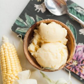 sweet corn ice cream, fall ice cream, ice cream, dessert, home made ice cream, florida girl cooks