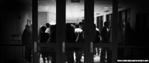 Photograph of a Crowd in a Lobby